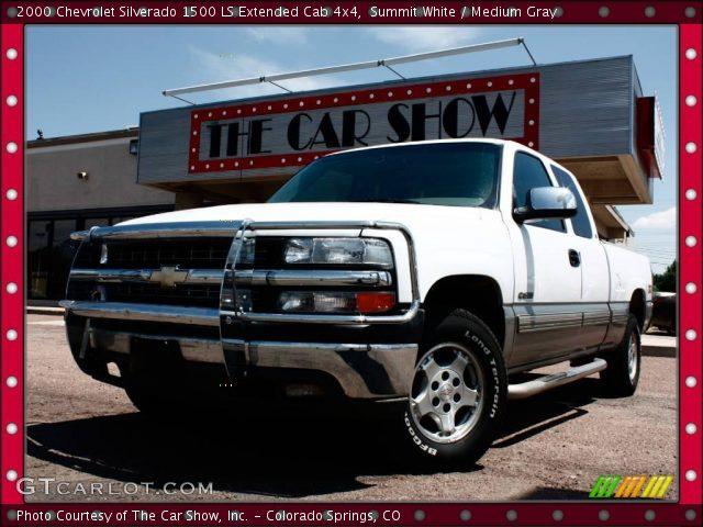 Summit white 2000 chevrolet silverado 1500 ls extended - 2000 chevy silverado 1500 interior ...