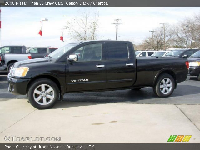 galaxy black 2008 nissan titan le crew cab charcoal interior vehicle. Black Bedroom Furniture Sets. Home Design Ideas