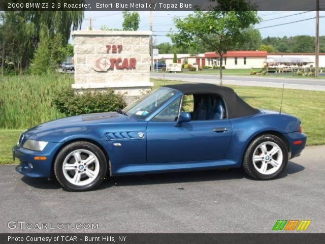 estoril blue metallic 2000 bmw z3 2 3 roadster topaz. Black Bedroom Furniture Sets. Home Design Ideas