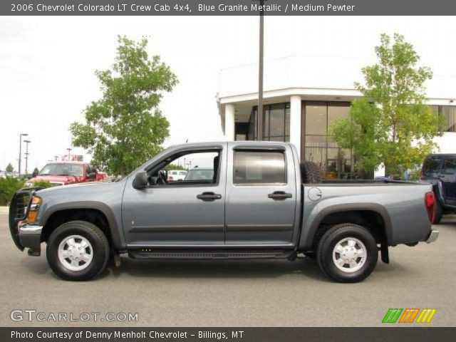blue granite metallic 2006 chevrolet colorado lt crew cab 4x4 medium pewter interior. Black Bedroom Furniture Sets. Home Design Ideas
