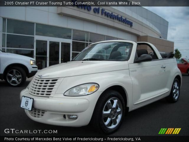cool vanilla white 2005 chrysler pt cruiser touring turbo convertible black interior. Black Bedroom Furniture Sets. Home Design Ideas
