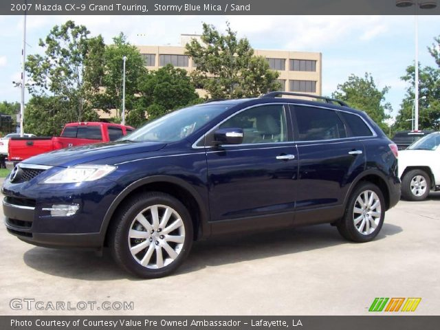 stormy blue mica 2007 mazda cx 9 grand touring sand interior vehicle. Black Bedroom Furniture Sets. Home Design Ideas