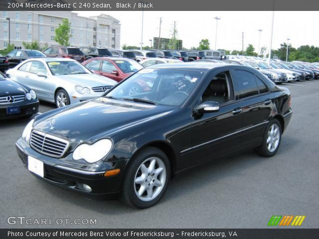 black 2004 mercedes benz c 240 sedan black interior vehicle archive 15129396. Black Bedroom Furniture Sets. Home Design Ideas