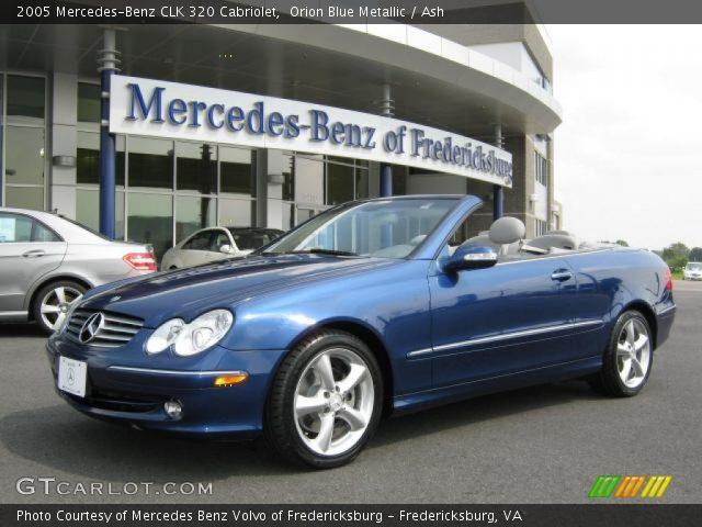 Orion blue metallic 2005 mercedes benz clk 320 cabriolet for 2005 mercedes benz clk 320