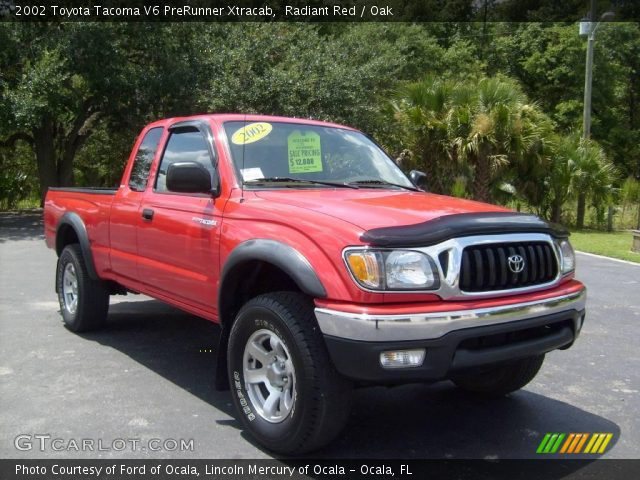 2004 Toyota Tacoma Xtracab >> Radiant Red - 2002 Toyota Tacoma V6 PreRunner Xtracab - Oak Interior | GTCarLot.com - Vehicle ...