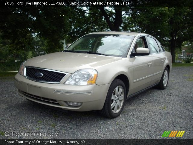pueblo gold metallic 2006 ford five hundred sel awd pebble beige interior. Black Bedroom Furniture Sets. Home Design Ideas