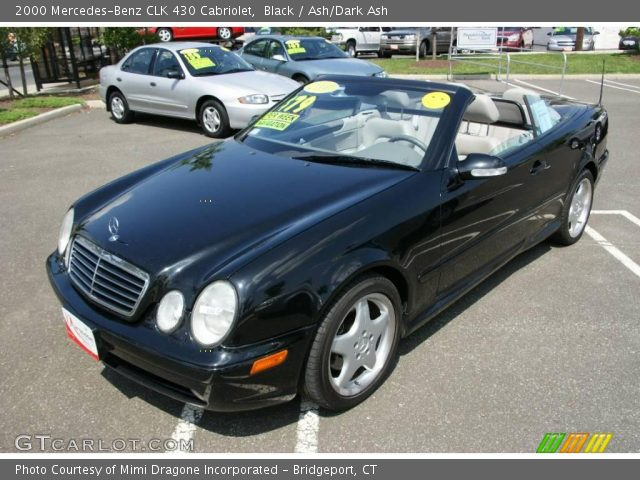 black 2000 mercedes benz clk 430 cabriolet ash dark. Black Bedroom Furniture Sets. Home Design Ideas