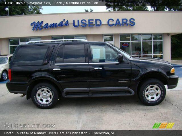 Black 1998 Lincoln Navigator 4x4 Medium Prairie Tan Interior Vehicle