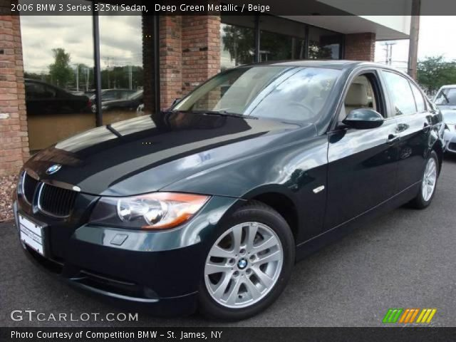 deep green metallic 2006 bmw 3 series 325xi sedan beige interior vehicle. Black Bedroom Furniture Sets. Home Design Ideas