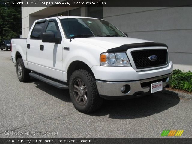 oxford white 2006 ford f150 xlt supercrew 4x4 tan. Black Bedroom Furniture Sets. Home Design Ideas