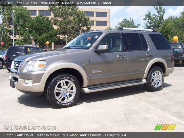 Mineral Grey Metallic 2006 Ford Explorer Eddie Bauer Camel Interior Vehicle