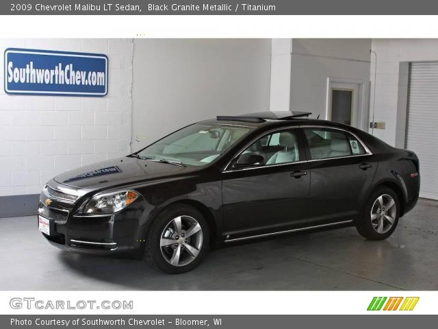 2009 Chevrolet Malibu Lt Sedan In Black Granite Metallic