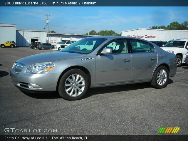 2008 Buick Lucerne CXS in Platinum Metallic. Click to see large photo.