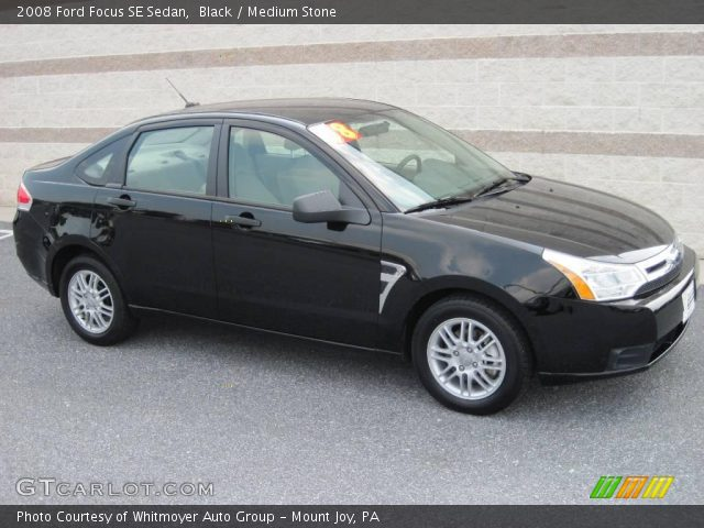 black 2008 ford focus se sedan medium stone interior vehicle archive 15523910. Black Bedroom Furniture Sets. Home Design Ideas