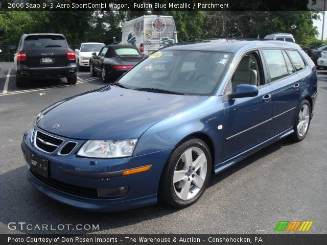 fusion blue metallic 2006 saab 9 3 aero sportcombi wagon. Black Bedroom Furniture Sets. Home Design Ideas
