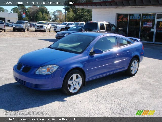 Nitrous Blue Metallic 2008 Pontiac G5 Ebony Interior