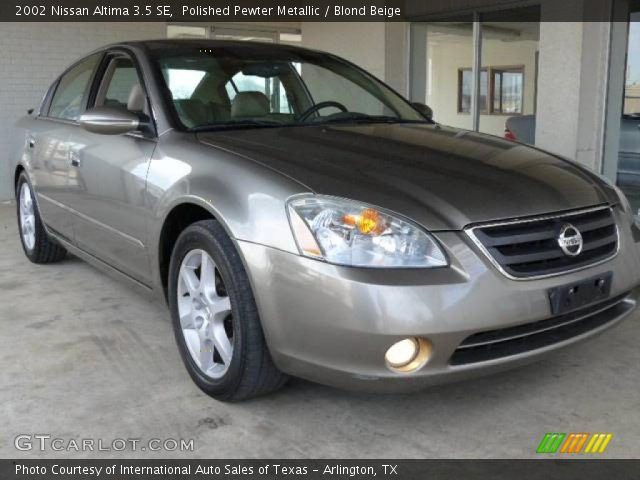 polished pewter metallic 2002 nissan altima 3 5 se. Black Bedroom Furniture Sets. Home Design Ideas