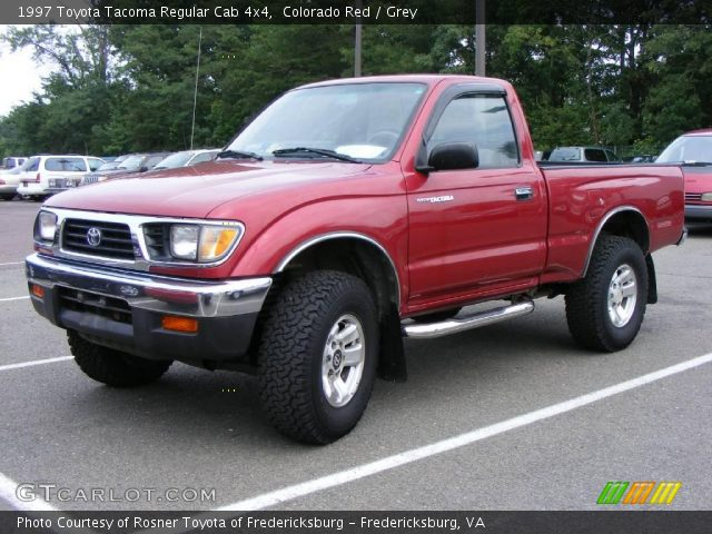Colorado red 1997 toyota tacoma regular cab 4x4 grey - 1997 toyota tacoma interior parts ...