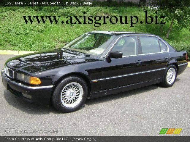 jet black 1995 bmw 7 series 740il sedan beige interior vehicle archive. Black Bedroom Furniture Sets. Home Design Ideas