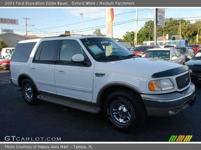 oxford white 2001 ford expedition eddie bauer medium. Black Bedroom Furniture Sets. Home Design Ideas