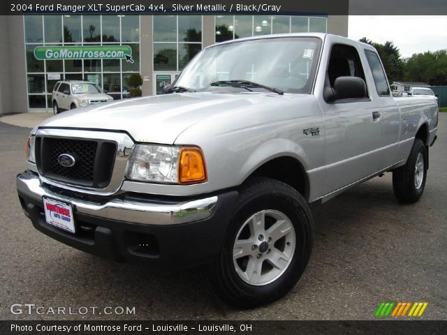 silver metallic 2004 ford ranger xlt supercab 4x4 black gray interior. Black Bedroom Furniture Sets. Home Design Ideas