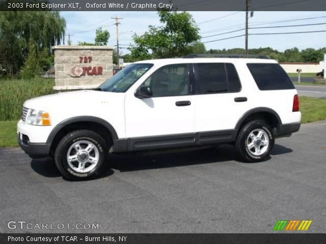 oxford white 2003 ford explorer xlt graphite grey interior. Cars Review. Best American Auto & Cars Review