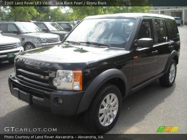 java black pearl 2005 land rover lr3 v8 se ebony black interior vehicle. Black Bedroom Furniture Sets. Home Design Ideas