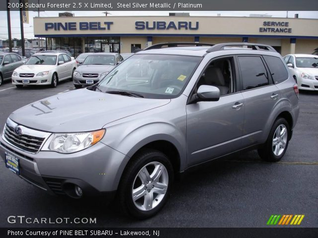 steel silver metallic 2009 subaru forester 2 5 x limited. Black Bedroom Furniture Sets. Home Design Ideas