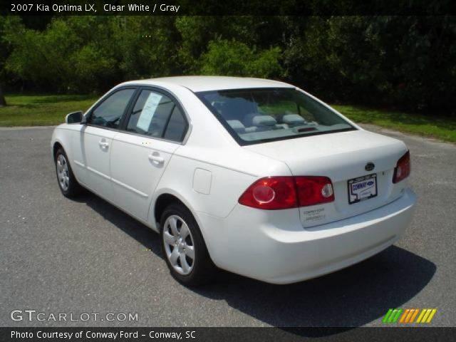 Clear White - 2007 Kia Optima LX - Gray Interior   GTCarLot.com ...