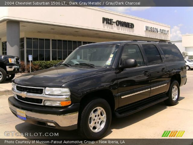 dark gray metallic 2004 chevrolet suburban 1500 lt. Black Bedroom Furniture Sets. Home Design Ideas