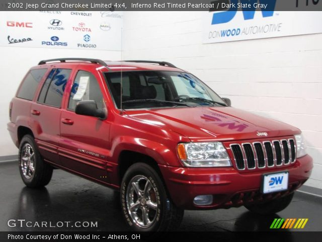 inferno red tinted pearlcoat 2002 jeep grand cherokee limited 4x4 dark slate gray interior. Black Bedroom Furniture Sets. Home Design Ideas