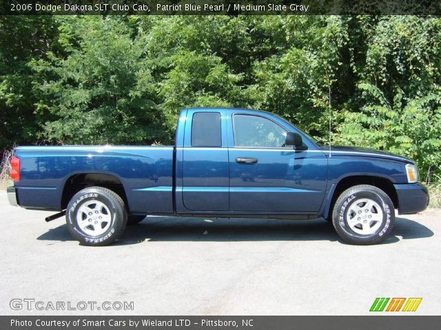 patriot blue pearl 2006 dodge dakota slt club cab medium slate gray interior. Black Bedroom Furniture Sets. Home Design Ideas