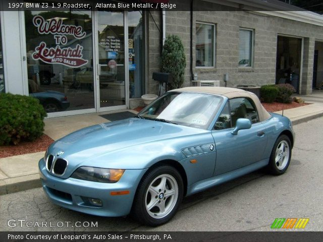 atlanta blue metallic 1997 bmw z3 1 9 roadster beige interior vehicle. Black Bedroom Furniture Sets. Home Design Ideas
