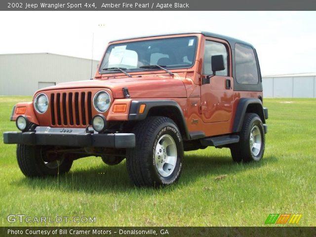 amber fire pearl 2002 jeep wrangler sport 4x4 agate. Black Bedroom Furniture Sets. Home Design Ideas