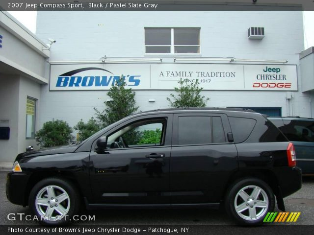 Black 2007 Jeep Compass Sport with Pastel Slate Gray interior 2007 Jeep