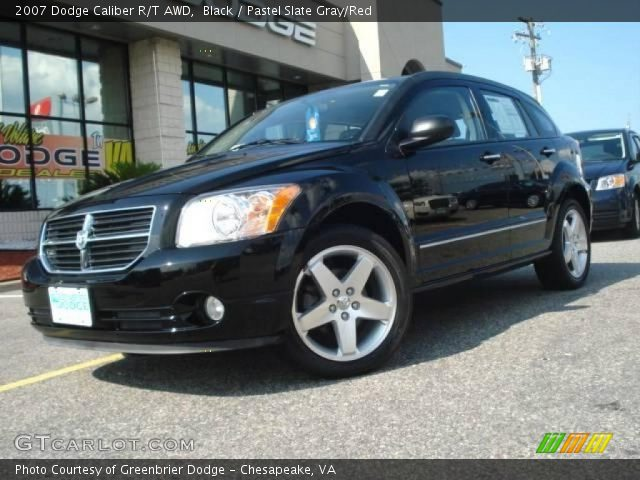 black 2007 dodge caliber r t awd pastel slate gray red. Black Bedroom Furniture Sets. Home Design Ideas
