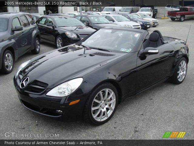 black 2005 mercedes benz slk 350 roadster black. Black Bedroom Furniture Sets. Home Design Ideas
