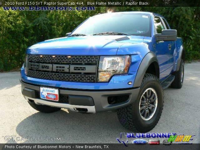 2010 Ford F150 SVT Raptor SuperCab 4x4 in Blue Flame Metallic
