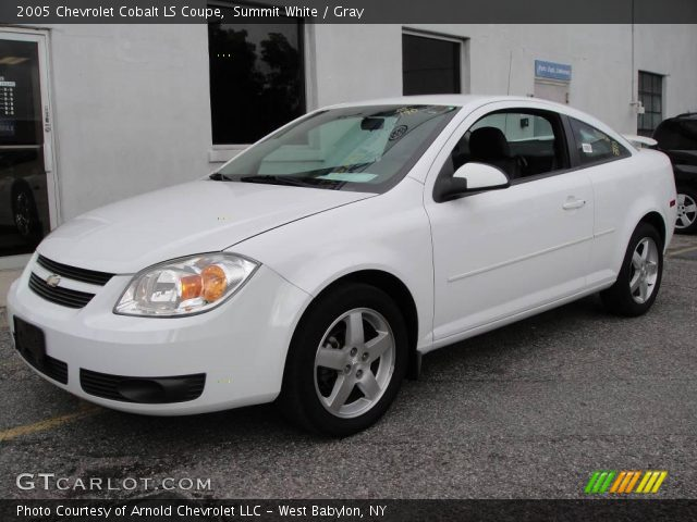 summit white 2005 chevrolet cobalt ls coupe gray. Black Bedroom Furniture Sets. Home Design Ideas