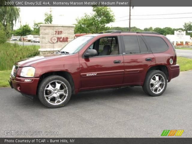 monterey maroon metallic 2003 gmc envoy sle 4x4 medium. Black Bedroom Furniture Sets. Home Design Ideas