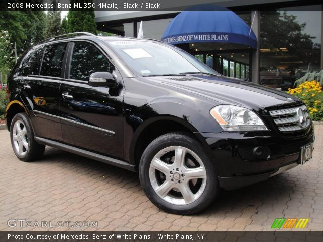 Black 2008 mercedes benz ml 350 4matic black interior for Mercedes benz ml 350 2008