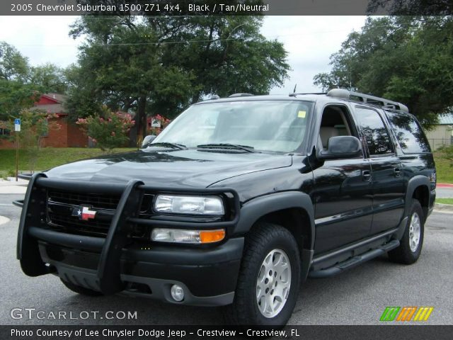 black 2005 chevrolet suburban 1500 z71 4x4 tan neutral interior vehicle. Black Bedroom Furniture Sets. Home Design Ideas