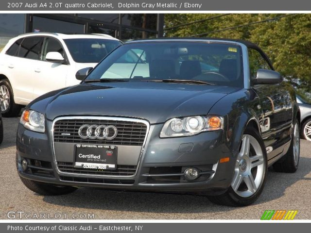 dolphin gray metallic 2007 audi a4 2 0t quattro. Black Bedroom Furniture Sets. Home Design Ideas