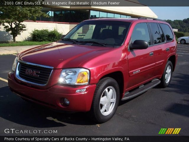 magnetic red metallic 2003 gmc envoy sle 4x4 medium. Black Bedroom Furniture Sets. Home Design Ideas