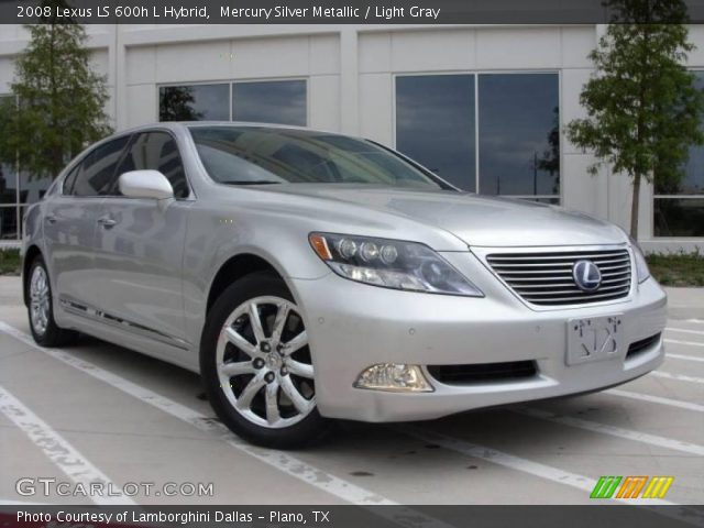 mercury silver metallic 2008 lexus ls 600h l hybrid. Black Bedroom Furniture Sets. Home Design Ideas