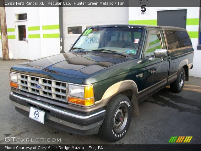 hunter green metallic 1989 ford ranger xlt regular cab. Black Bedroom Furniture Sets. Home Design Ideas