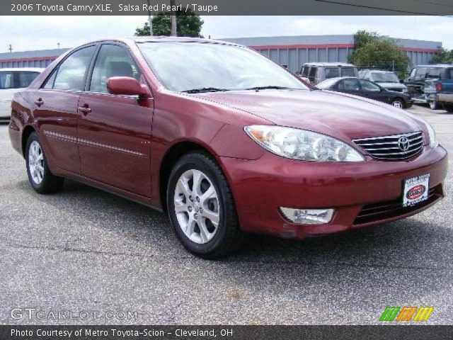 salsa red pearl 2006 toyota camry xle taupe interior vehicle archive 16261340. Black Bedroom Furniture Sets. Home Design Ideas