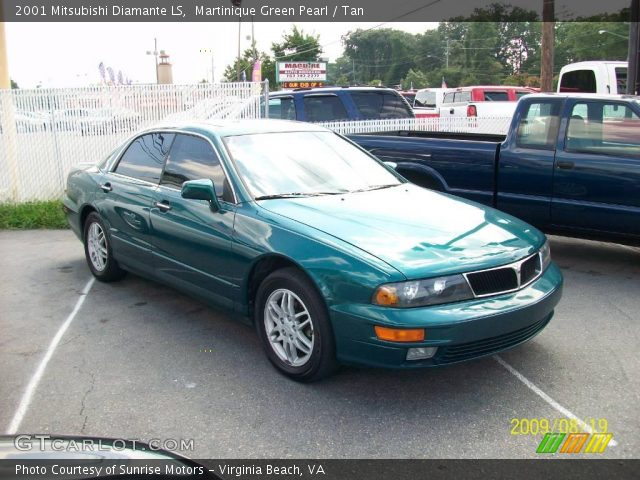 Martinique Green Pearl 2001 Mitsubishi Diamante LS with Tan interior 2001