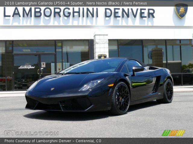 2010 Lamborghini Gallardo LP560-4 Spyder in Nero Noctis (Black)