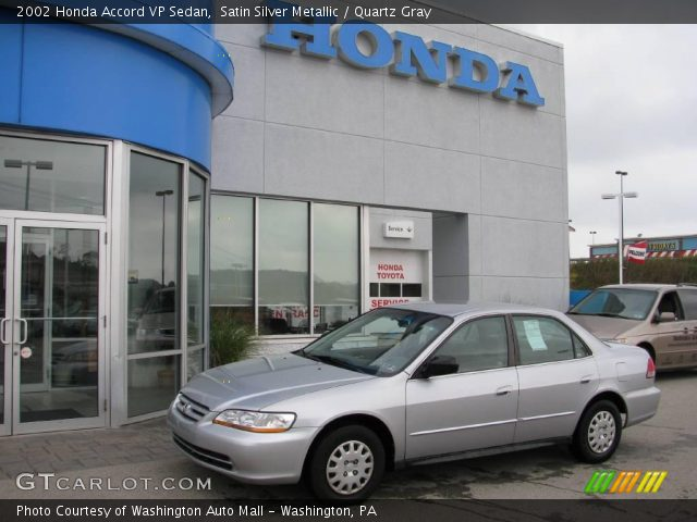 2002 Honda Accord VP Sedan in Satin Silver Metallic
